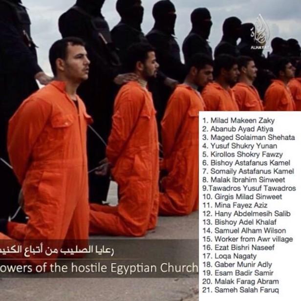 Mártires do Egito mortos na Líbia