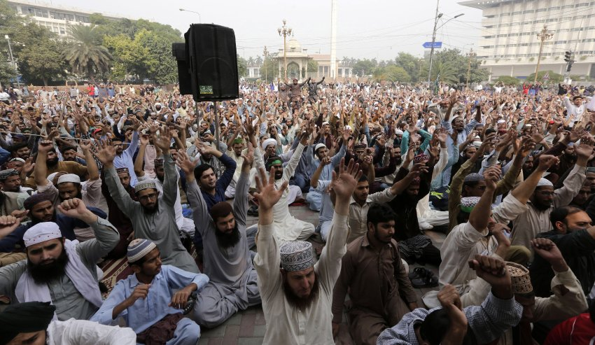 Islamists protest after Pakistan court annulled Asia Bibi's death sentence, Lahore - 31 Oct 2018